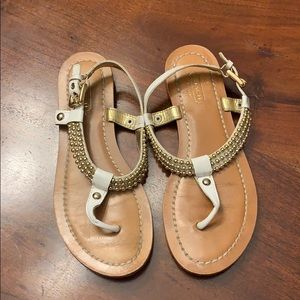 Coach white leather sandals shoes 7